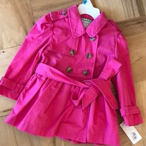 NWT Ralph Lauren ruffle back trench pink